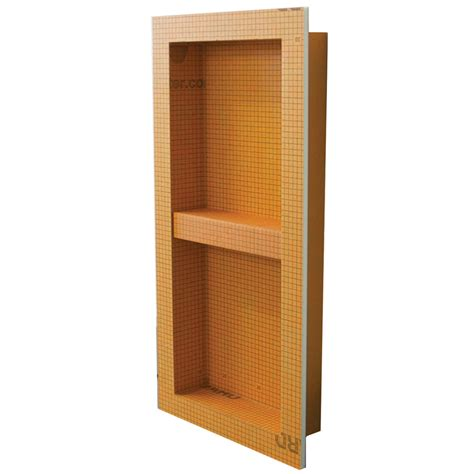Bathroom Niche Shelves Shop Schluter Systems Kerdi Board Niche Orange Shower Wall Shelf At Lowes