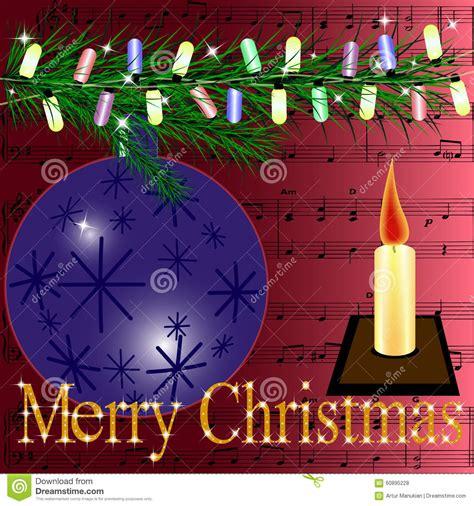 Kã Ndigen Brief Vrolijke Kerstmis De Prentbriefkaar Stock Illustratie Afbeelding 60895228