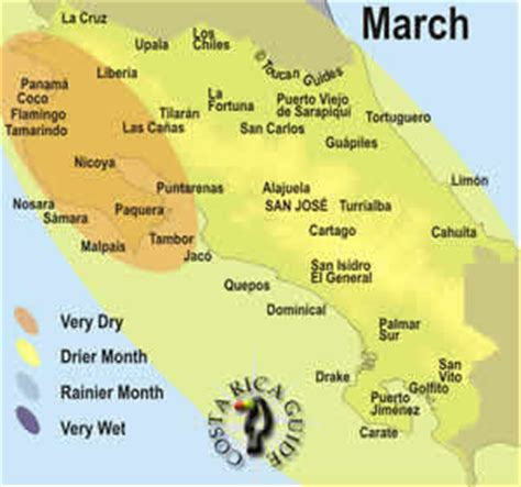 best time to travel march in costa rica