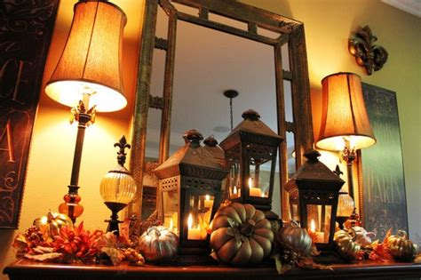 houzz fall decor dining room fall mantle vignette