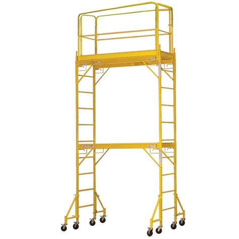 werner 4 ft x 3 8 ft x 2 ft portable rolling scaffold