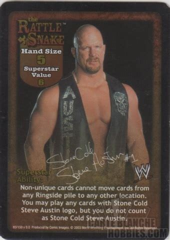 Cold Steve Birthday Card Carte Blanche Hobbies Magic The Gathering Wwe Raw Deal