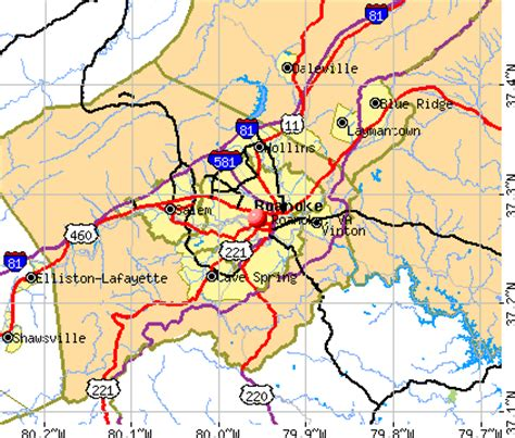 Roanoke Va Records Roanoke Virginia Map My
