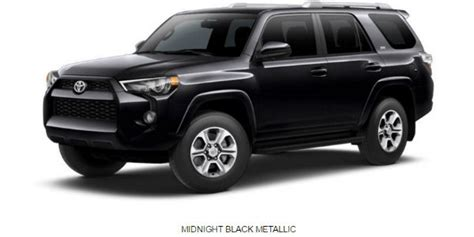 toyota 4runner 2017 black what are the 2017 toyota 4runner exterior color options