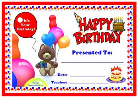printable birthday certificate templates happy birthday certificate templates free memes