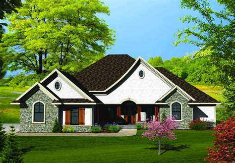 french country house plan on one story country house plans