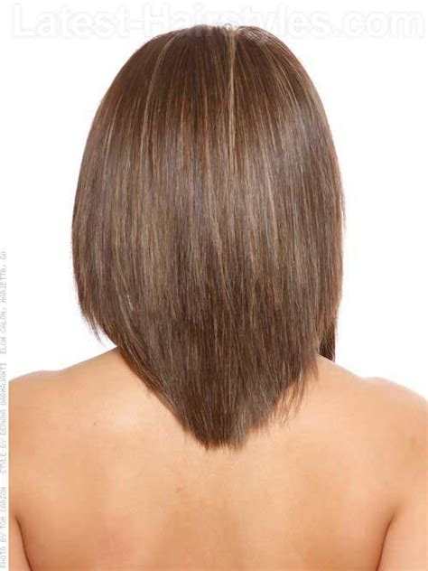 how to cut a bob shaped in a v at the nape medium long hairstyles 2014 2015 hairstyles haircuts