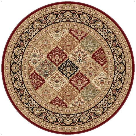 Circular Area Rugs Tayse Rugs Sensation 7 Ft 10 In Traditional Area Rug 4770 8 The Home Depot