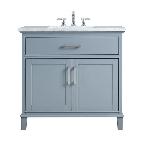 bathroom sink cabinets with marble top stufurhome 36 in leigh single sink bathroom vanity in