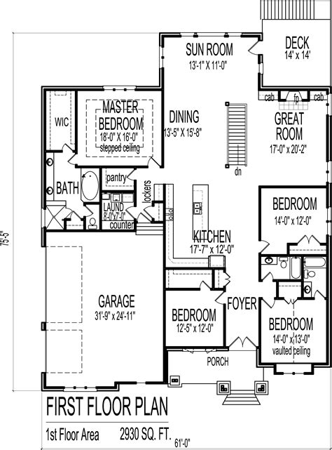 4 bedroom bungalow floor plan 4 bedroom luxury bungalow house floor plans architectural