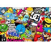 Wallpapers 1600x1200 Sticker Bomb Sheet 955 X 674 225 Kb Jpeg