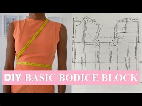 bodice pattern making youtube diy sewing basics how to make a basic bodice block