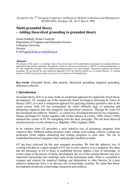 Memo Writing Grounded Theory 100 Grounded Theory Thesis Adding Theoretical Grounding To Grounded Theory