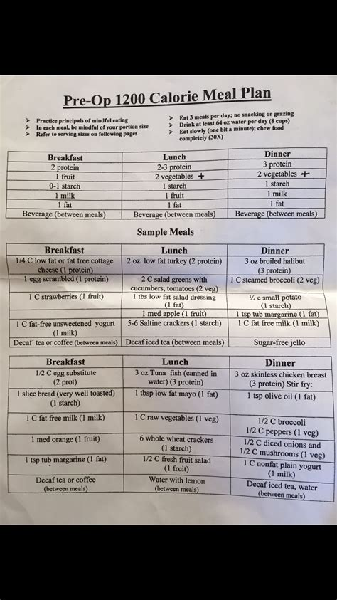 pre c section diet best diet ever no gimmick 1200 calorie pre op diet