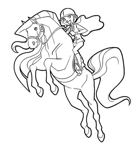 princess riding horse coloring page equine pinterest