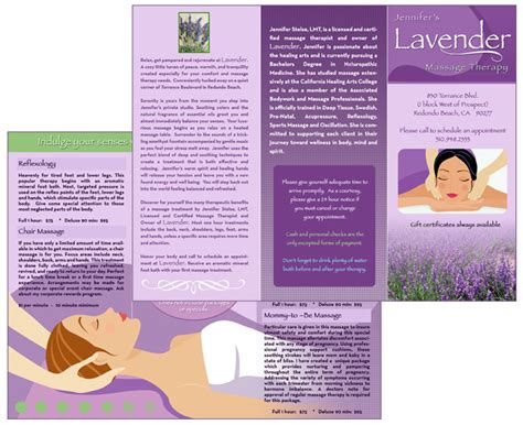 templates for massage flyers brochure zafira pics brochure templates for massage therapy