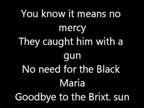garage lyrics the clash guns of brixton lyrics