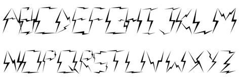 lightning font lightning raid caratteri scaricare