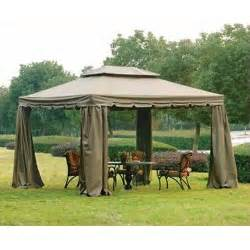 Replacement Netting For Gazebo by 10 X 12 Scalloped Two Tiered Gazebo Replacement Canopy And