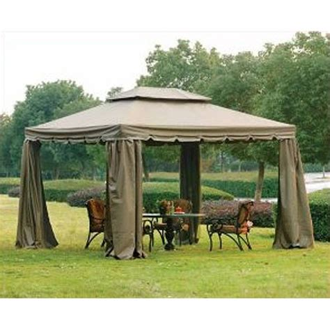 replacement awnings for gazebos garden winds 10 x 12 scalloped gazebo replacement canopy