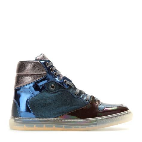 balenciaga high top sneakers balenciaga leather high top sneakers lyst