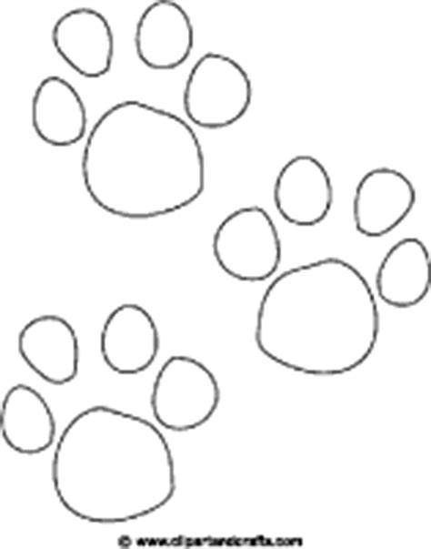 paw prints coloring page or digital st