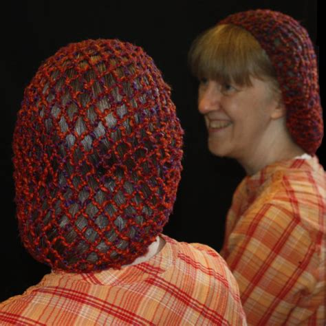 pattern for snood hair net netting more or less class projects rita s netting nook