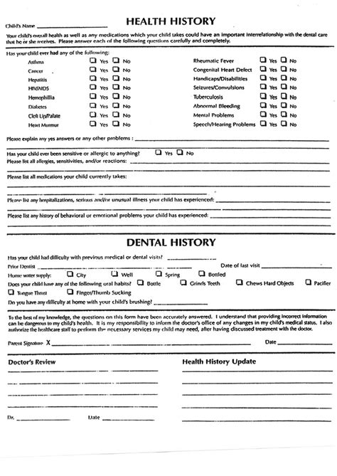 health history form template house plans health history form