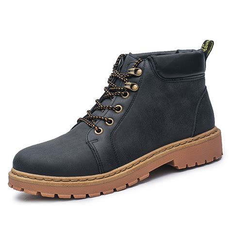best casual boots for mens leather waterproof work martin boots ankle high top