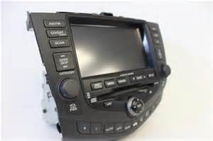 2003 2007 honda accord sedan navigation radio 6 disc