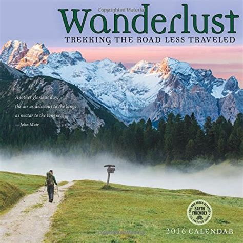 Great Gifts For A With Wanderlust by Wanderlust Hiking Wall Calendar Great Gifts For Hiking