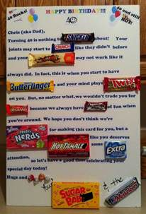 Gift Card Birthday Ideas - candy card for 40th birthday gift ideas pinterest