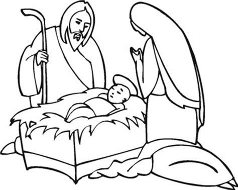 coloring page of baby jesus mary and joseph jesus and mary free coloring pages on art coloring pages