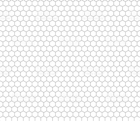 Seamless Hexagon Pattern Vector | gray hexagon grid seamless pattern stock vector art