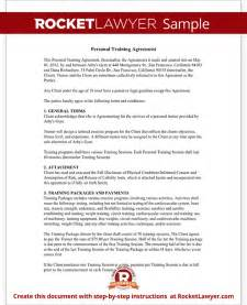 personal trainer forms personal training contract