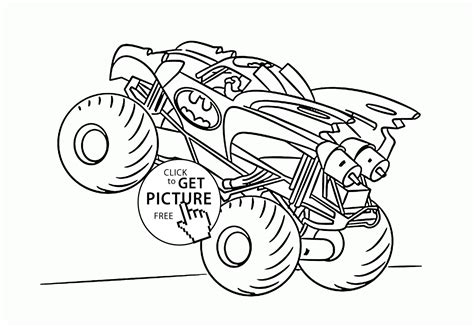 monster trucks coloring pages batman monster truck coloring pages coloring pages