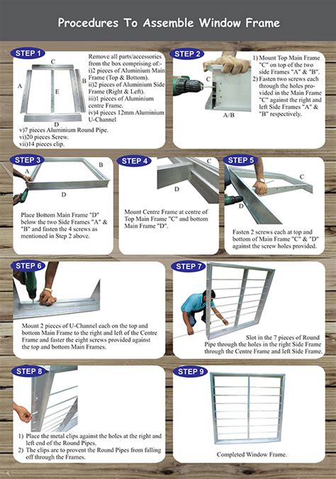 Handmade Photo Frames Procedure - procedures to assemble window frame how to install bukit