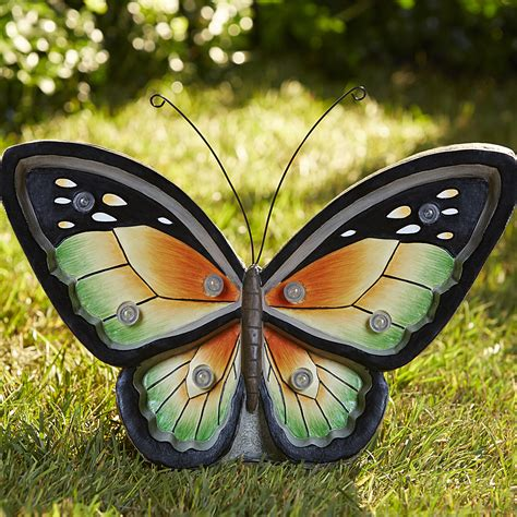 Butterfly Outdoor Lights Butterfly With Lights Green Outdoor Living Outdoor Decor Lawn Ornaments Statues