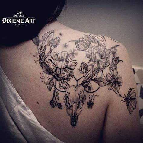 taurus rose tattoo 25 best ideas about deer skull tattoos on