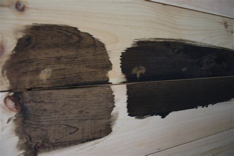 Best Stain For Shiplap Minwax Staining Trials On Shiplap Paneling Merrypad