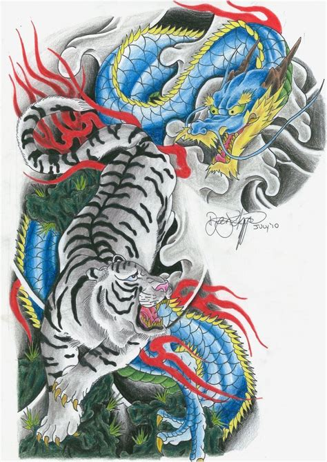 tiger and dragon by ryanschipper89 on deviantart