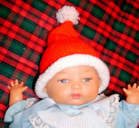 knitted santa hat for baby spinning s ditsy drivel preemie baby santa hat