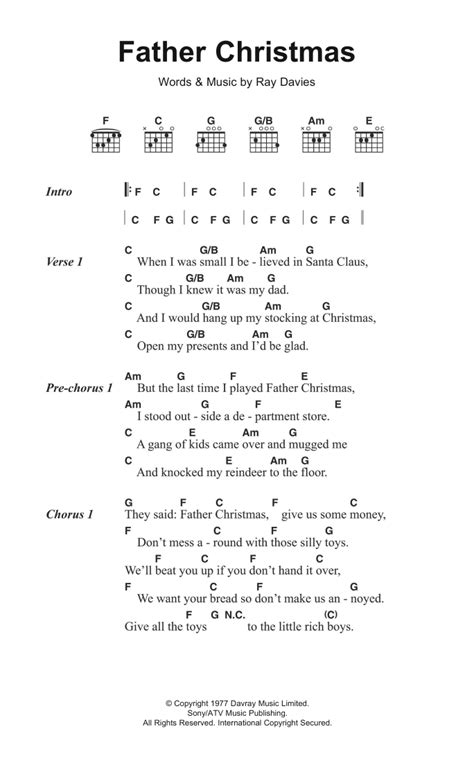 picture book kinks chords sheet direct