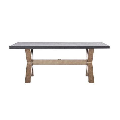 patio dinning table home decorators collection naples natural all weather