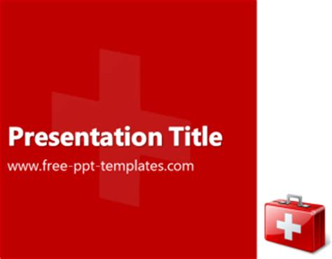 First Aid Ppt Template Free Powerpoint Templates Aid Powerpoint Template