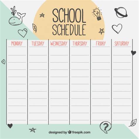 Calendario Escolar Ist 2014 Schule Zeitplan Mit Zeichnungen Der Premium Vektor