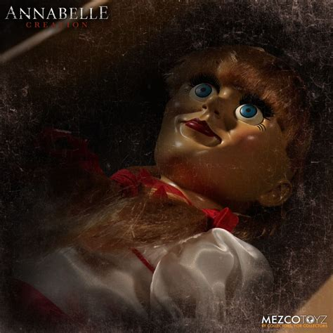 annabelle doll 1 take home mezco toyz s creepy scale annabelle doll