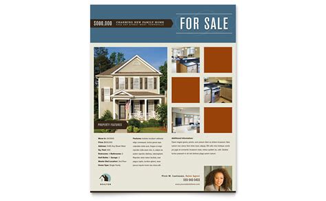 Residential Realtor Flyer Template Word Publisher Microsoft Real Estate Templates
