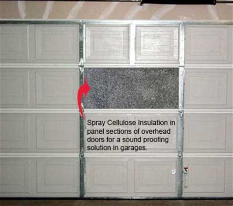 Garage Door Sound Insulation by Soundproof Home Studio With Cellulose Greenest