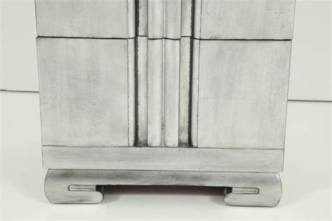Silver Leaf Nightstand Mont Influenced Silver Leaf Nightstands For Sale At 1stdibs